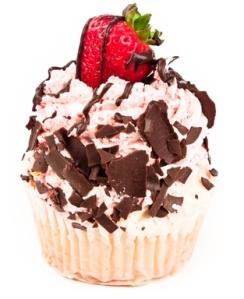 chocolate-strawberry-cupcake
